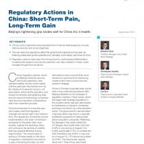 Regulatory Actions in China: Short-Term Pain, Long-Term Gain