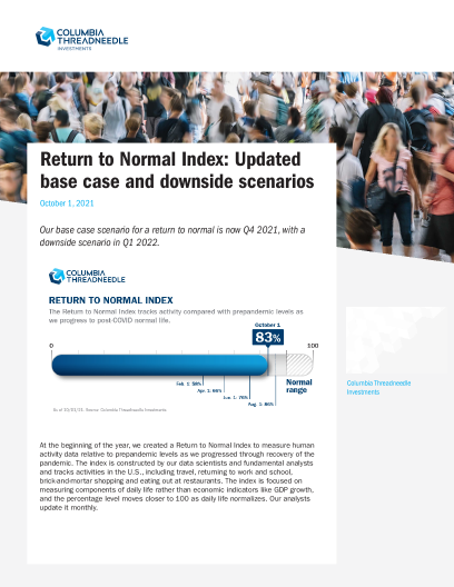 Return to Normal Index: Updated base case and downside scenarios