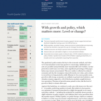 With growth and policy, which matters more: Level or change?
